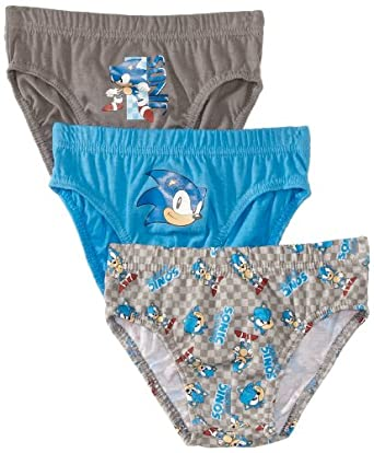 Sonic the Hedgehog Boy's HM3013 Set of 3 Boxer Brief, Multicoloured (Blue/White/Grey), 3 Years (Manufacturer Size:2-3 Years)