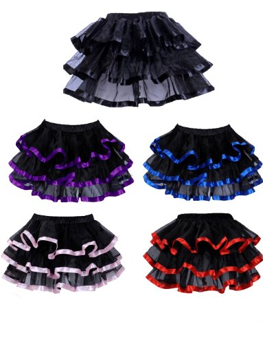 Yummy Bee Sexy Frilly Skirt Womens Burlesque Tutu Cosplay Costume Plus Size 2-20