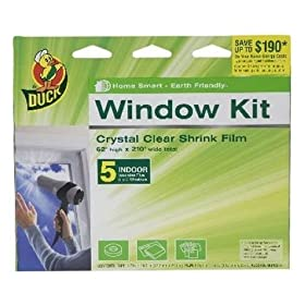 Henkel 00-09122 Indoor 5-Window Shrink Film Kit, 62-by-210-Inch