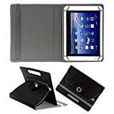 ACM ROTATING 360° LEATHER FLIP CASE FOR BSNL PENTA WS802C TABLET STAND COVER HOLDER BLACK