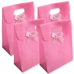 sac sachet pochette cadeau rose lot de 4 ind chirable pvc avec noeud fermeture scratch bag. Black Bedroom Furniture Sets. Home Design Ideas