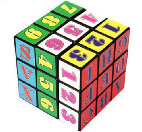 Domire New Style Fancy Rubik'S Cube Baby Early Education Hexahedron Toy Intellectual Development Alphanumeric Rubik'S Cube