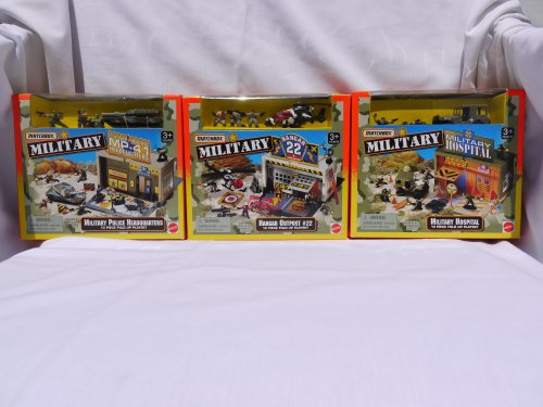 Buy Low Price Mattel Matchbox Military Hospital, Hangar Outpost, Military Police Headquarters Playsets (1997) Figure (B001MP3RZ2)