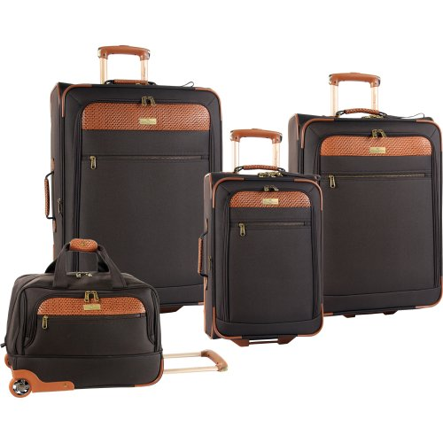 Tommy Bahama Luggage Retreat Ii 4 Piece Stylish Set, Chocolate, One Size special discount