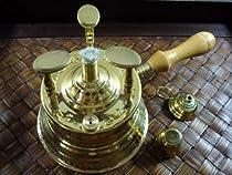 brass turkish coffee maker table top alcohol burner LRG