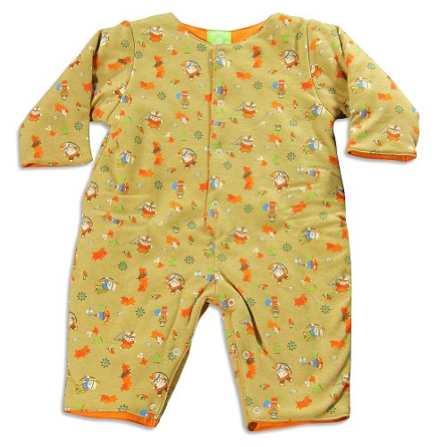 Snopea - Baby Boys Long Sleeve Coverall, Tan, Orange 21943-9Months front-310056
