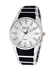 Exotica Analog White Dial Men's Watch (EFG-02-W)