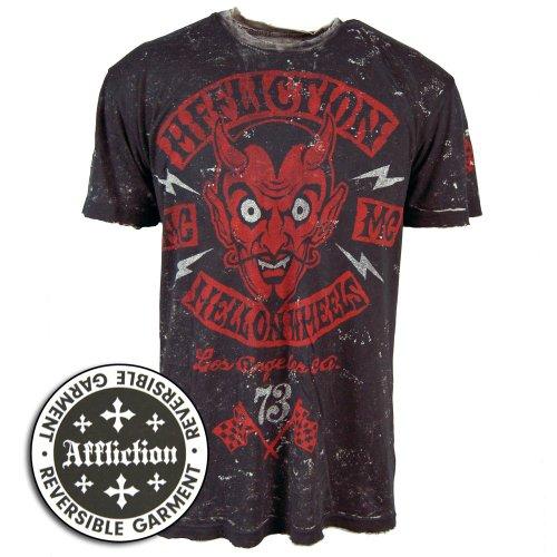 Affliction - Mens El Diablo T-Shirt In Black Lava Tint, Size: Large, Color: Black Lava Tint
