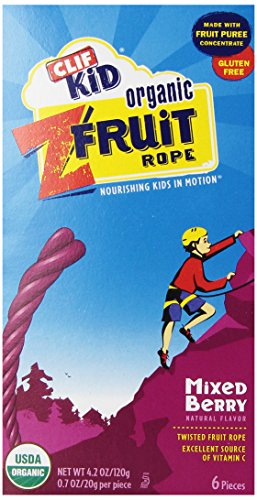 CLIF Kid ZFRUIT - Organic Fruit Rope - (Mixed Berry 6 count) (Fruit Twists compare prices)
