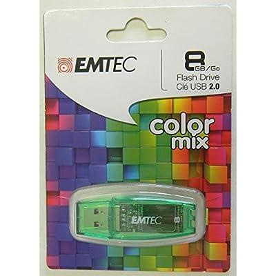Emtec 8GB Color Mix Flash Drive - Green