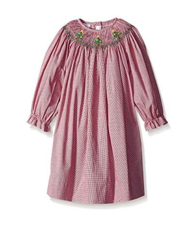 Vive La Fete Kid's Smocked Christmas Tree Bishop Dress