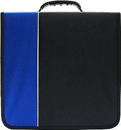 (1) CD / DVD Binder - 240 Capacity - Black & Blue- #2-CRY-E240BL