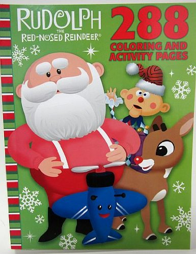 Rudolph the Red-Nosed Reindeer Celebration Season 288 Page Coloring & Activity Book - 1