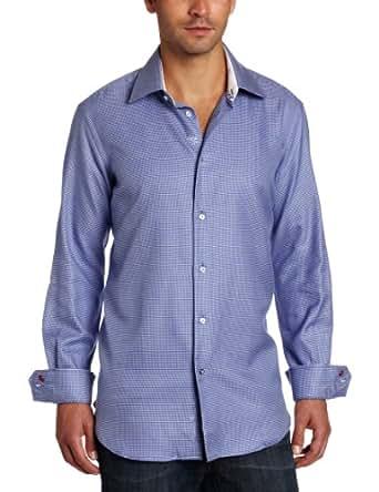 Robert Graham Men's Mavrick Dress, Blue, 16