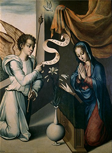 Oil Painting 'Morales Luis De La Anunciacion Ca. 1570', 24 x 33 inch / 61 x 83 cm , on