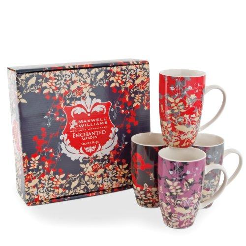 Maxwell & Williams Enchanted Garden 14-Oz. Mug - Set Of 4 - Gift Boxed