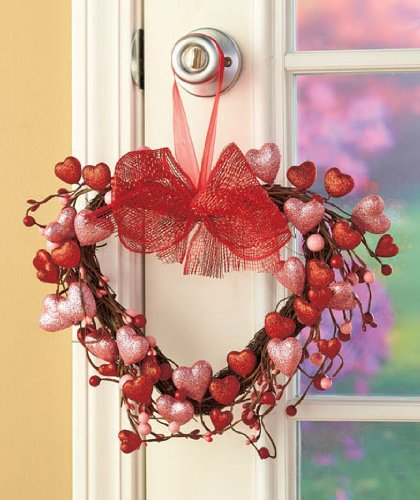 Valentines Day Spring Holiday Heart Wreath (Spring Wreaths Outdoor compare prices)