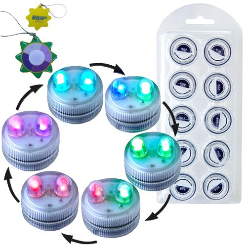 HQRP 10-Pack Color Change Waterproof Dual LED