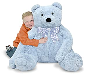 Melissa & Doug Jumbo Blue Teddy Bear - Plush