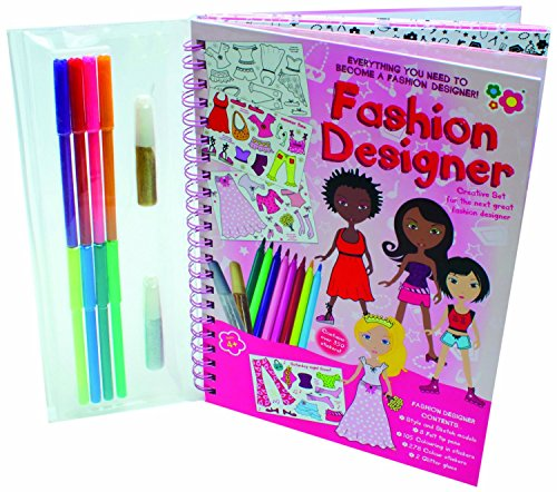Wiro Book - Fashion Designer - Girls Girl Child Kids Children - Design Your Own Outfit Kit - Number 1 Xmas Christmas Present Gift Fun Toys & Games Idea Age 4+