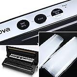 Vakuumierer, Crenova VS-1 Folienschweißgeräte Automatischer Vakuumiergerät für die Aufbewahrung von Nahrungsmitteln mit einem Einsteigerpaket Folienschweißgeräte (Schwarz) -