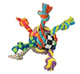 Petstages 149 Rag N' Rope Ball Dog Fetch and Play Toy