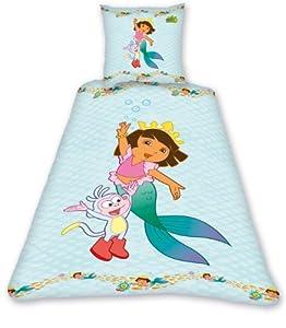 Dora The Explorer Mermaid Single Duvet Set Panel Print