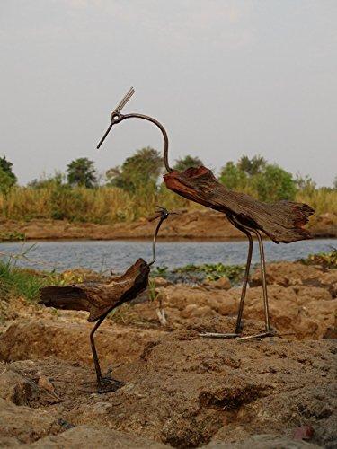 Fair trade dekoration aus schwemm holz vogel - Gartenskulpturen holz ...