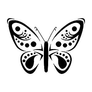 Amazon.com - Tatouage Papillon Tribal Peel and Stick Fabric Wall