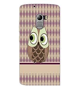 PrintDhaba Owl D-4291 Back Case Cover for LENOVO VIBE X3 c78 (Multi-Coloured)