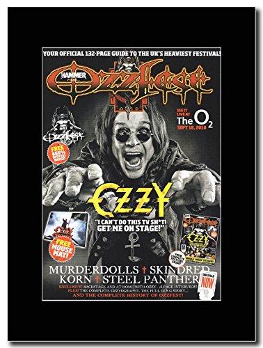 Ozzy Osbourne-Ozzfest 18 02 settembre 2010 Magazine Promo su un supporto, colore: nero