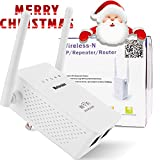 Motoraux Wireless-N Mini Wi-Fi Range Extender with Five Modes,...