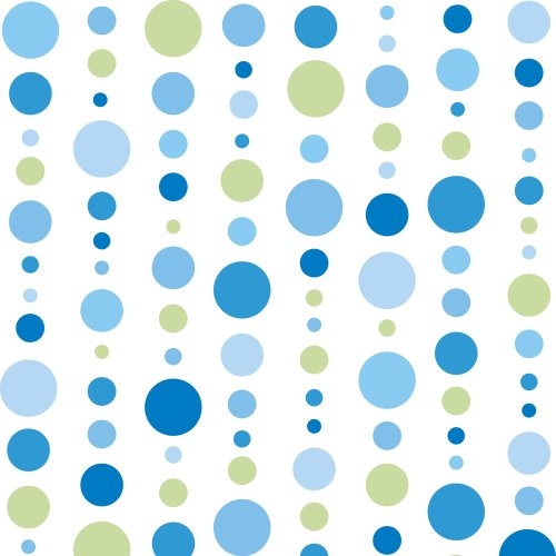 Caden Lane Classic Collection Dot Line Single Sheet, Blue