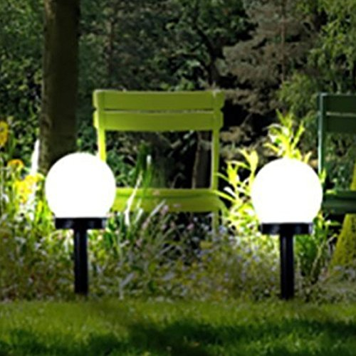 solar globe stake light set sogrand solar light solar pathway light