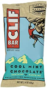Clif Bar, 2.4 Ounce - Organic Cool Mint Chocolate (12 Pack)