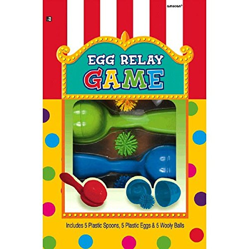 Super Fun Egg Relay Birthday Party Game, Multicolored (Spoon Game compare prices)