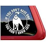 You Don't Know Jack JRT Dog Vinyl Window Decal Sticker