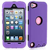 i-Blason ArmorBox Hybrid 3-Layer Defender Case with Built-In Screen Protector Film for iPod touch 5 (Purple)