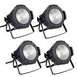 BETOPPER 100W COB Par Lights Stage Washing Lighting (4pcs Pack) (Color: LC001-H*4)