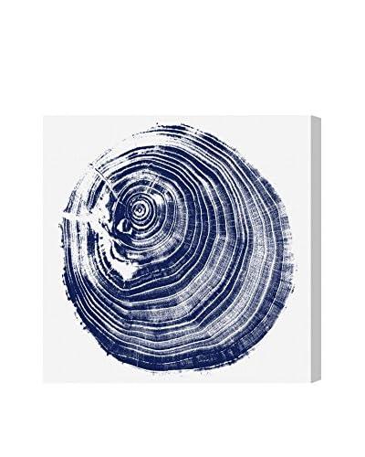 Oliver Gal Legno Blu Due Canvas Art