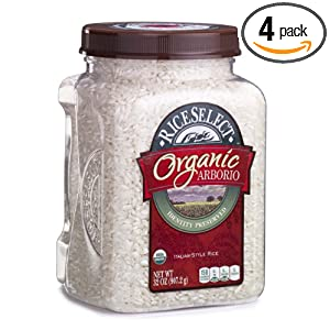 Riceselect Organic Arborio Rice, 32-Ounce Jars (Pack of 4)