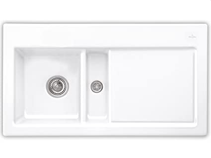 Villeroy & Boch Subway 50 Pure White Ceramic Kitchen Sink Basin Installation Snow White