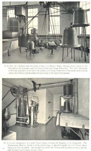 DAIRY REFRIGERATION: Primary and Secondary Cooler. Pasteurizer; old print 1912