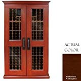 Vinotemp Vino-sonoma700l-ma Sonoma Lux – 700-model 464 Bottle Wine Cellar With Cornice And Base – Glass Door / Mahogany Cabinet