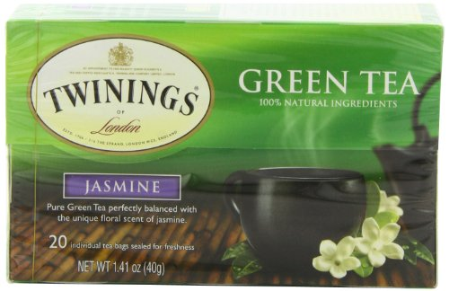 Twinings Jasmine Green Tea, 1.41-Ounce Boxes (Pack of 6)