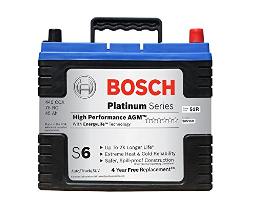 Bosch S6536B S6 Flat Plate AGM Battery (Auto Battery 51r compare prices)