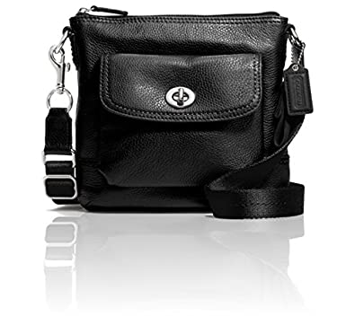 Coach 49170 Park Black Leather Swingpack Cross-body Bag