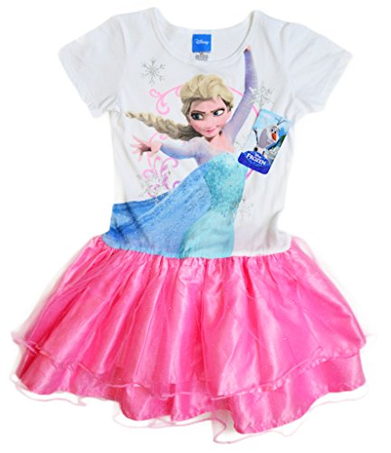 Disney Girls' Frozen Movie Kung Fu Elsa Short Sleeve Princess Dress