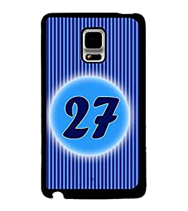 Printvisa 2D Printed Numerology Designer back case cover for Samsung Galaxy Note Edge- D4247