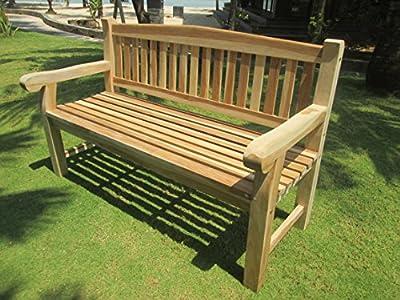 3-Sitzer Teakbank Gartenbank ca. 150 cm Sitzbank Parkbank Holzbank Teak Bank - SEHR STABIL von Home-Feeling bei Gartenmöbel von Du und Dein Garten